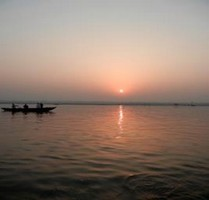 Sunrise on the Ganges in Varanasi