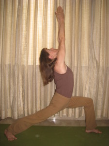 Lisa in Virabhadrasana I